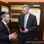 Rabbi Shlomo Soroka, Director of Government Affairs, Agudath Israel of Illinois, with Representative John D'Amico, whose district includes Telshe Yeshiva.