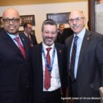 Representative Thaddeus Jones, Rabbi Shlomo Soroka, Director of Government Affairs, Agudath Israel of Illinois, and Representative Dan Caulkins
