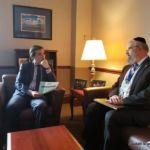 Senate Deputy Majority Leader Michael Gianaris and Rabbi Yeruchim Silber, Agudah\'s Director, NY Government Relations