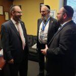 Senator Simcha Felder, Rabbi Yeruchim Silber, Rabbi Baruch Rothman