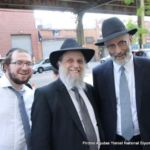 Sholom Schaffel, Rabbi Perezt Levin, and Rabbi Chaim Dovid Zweibel